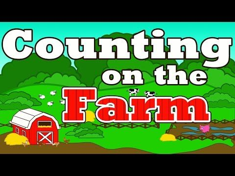"""Counting on the Farm - Counting Farm Animals - """"Farmer in the Dell"""" Nursery Rhymes Preschool Songs - YouTube"""