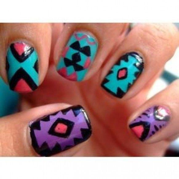25+ beautiful Bohemian nails ideas on Pinterest