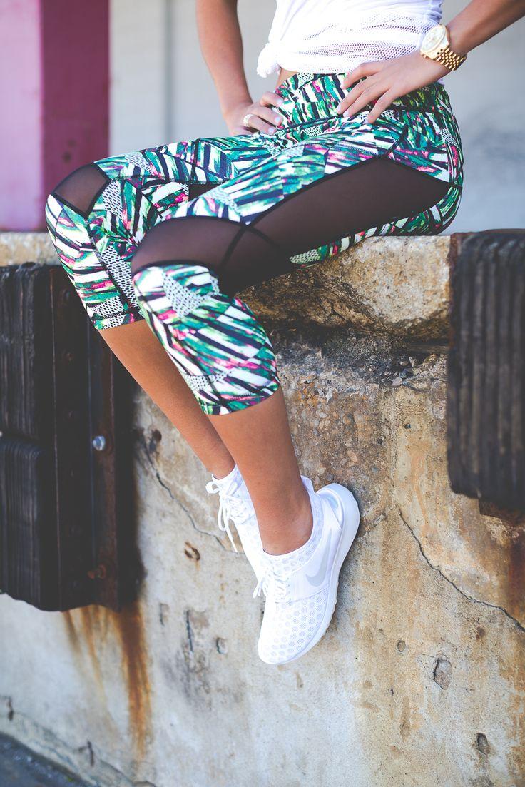 print workout leggings, mesh workout leggings, mesh workout top, daily workout routine, weekly workout routine, weekly nutrition, leg workouts // grace wainwright from @asoutherndrawl