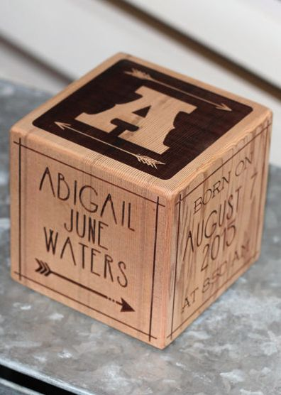 826 best baby showers and gift ideas images on pinterest baby personalized wooden baby block negle Gallery