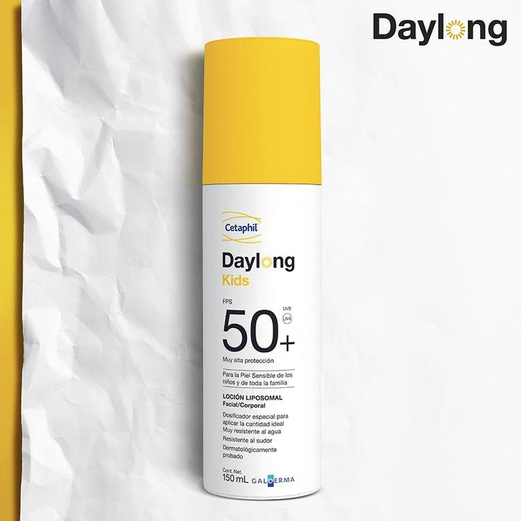 ¡Recuerda! Los niños con antecedentes familiares de cáncer de piel son 10% más propensos a contraer este tipo de enfermedad. Protege a tu pequeño con #DaylongKids