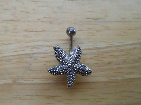 Anneau de nombril Piercing - étoile de mer Piercing Nombril - argent étoiles de…