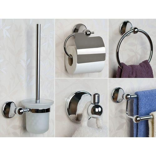 138 Best Bathrooms Images On Pinterest  Bathroom Designs Prepossessing Brushed Nickel Bathroom Accessories Design Decoration