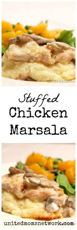 Stuffed Chicken Marsala, Olive Garden copycat
