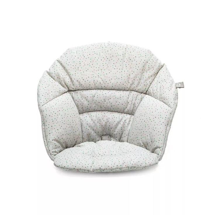 Stokke Clikk High Chair Cushion Gray Sprinkle Ocs In 2020 Chair Cushions Cushions High Chair