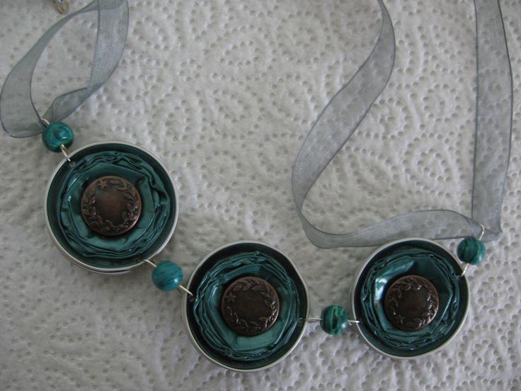 Collana verde con perle verdi - fatta con capsule Nespresso