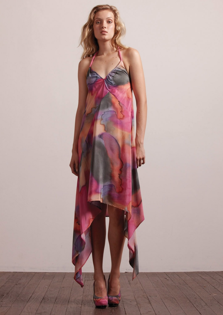 Ethereal Ombre Print Maxi Dress