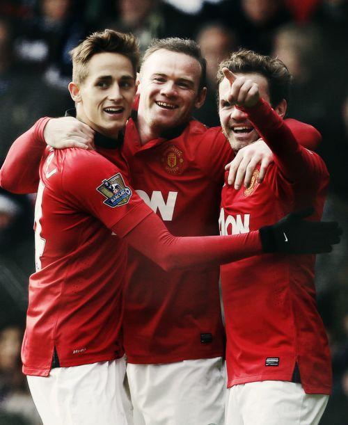 Adnan Januzaj, Wayne Rooney & Juan Mata