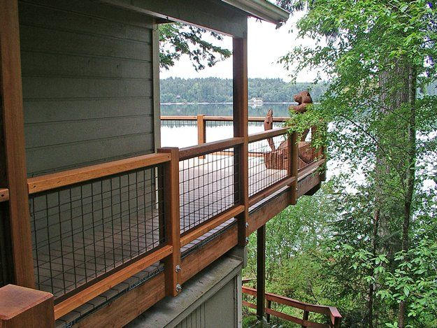 When the time comes I'd love to redo the #deck railing with wire mesh.