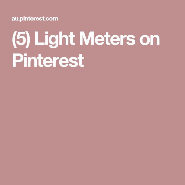 (5) Light Meters on Pinterest