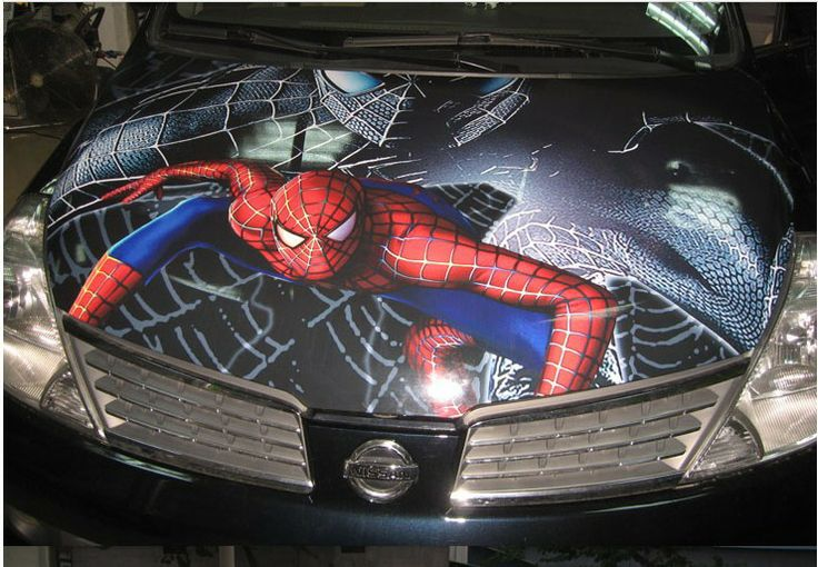 Free shipping NEW!!!high quality spaider man car hood stickers cartoon and decals auto 3d car accessories varies patterns US $84.99