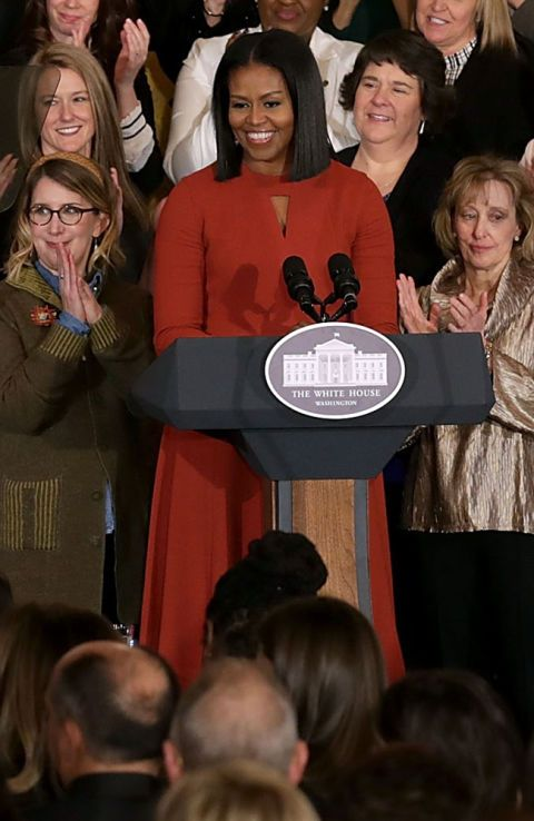 #FINALSPEECH AS #FIRSTLADY #Wearing #NarcisoRodriguez #FirstLady #FLOTUS Of The United States 🇺🇸 Of America #MichelleObama urged young Americans not to fear the future but fight for it, delivering an emotive #farewellspeech Friday January 6, 2017 in which she said being First Lady was the greatest honor of her life #FinalSpeech #Speech #GreatestHonor #WhiteHouse #SchoolCounsel #TheWhiteHouse #Obama #BlackHistory #History #Hope #BlackGirlsRock #MamaChief #ObamaAdministration #ThankYou