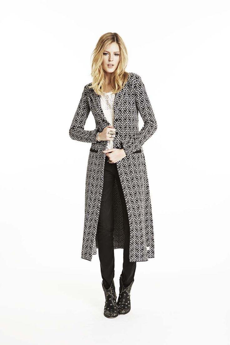 Odd Molly bird song long cardigan 715M-601| FW15 Lookbook | Knitwear