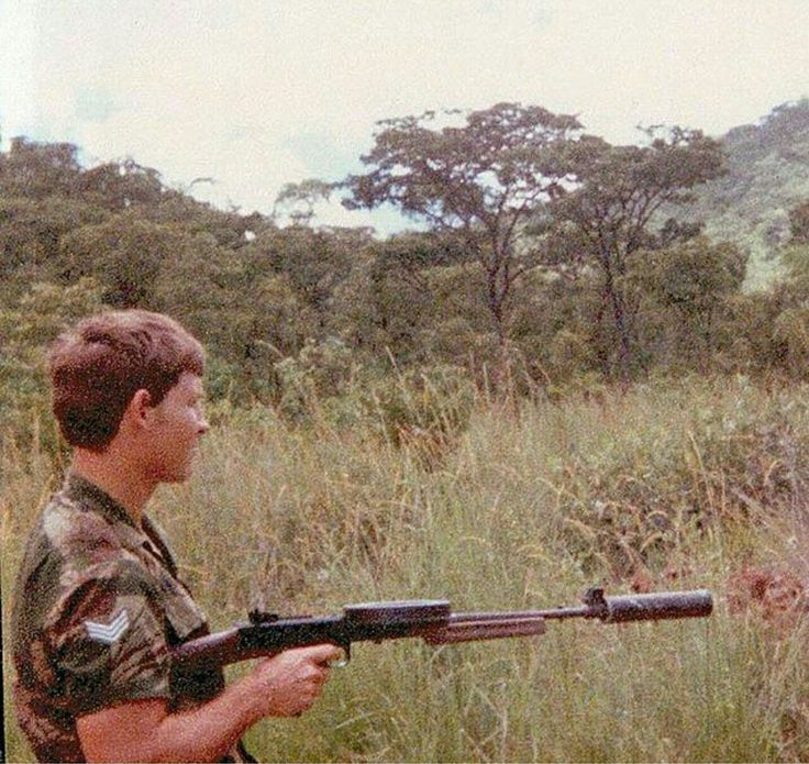 Rhodesian SAS member with suppressed A180