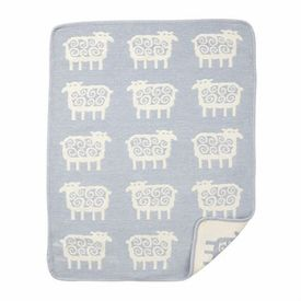 This swedish sheep blanket by Klippan is the cutest. I also really like the monkey and zoo animal ones.