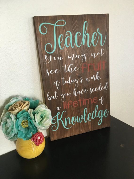 Teacher Sign! Great as a gift! https://www.etsy.com/listing/271526811/teacher-wood-sign-classroom-sign-teacher?ref=shop_home_active_22