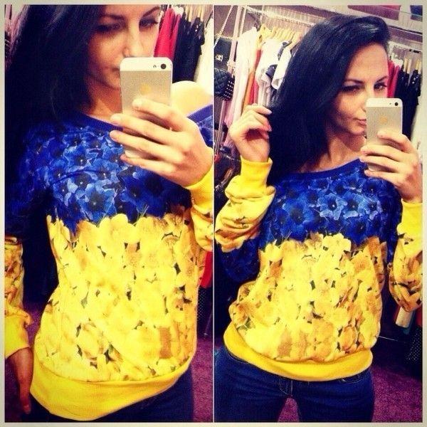 Сине желтый свитер Украиночка