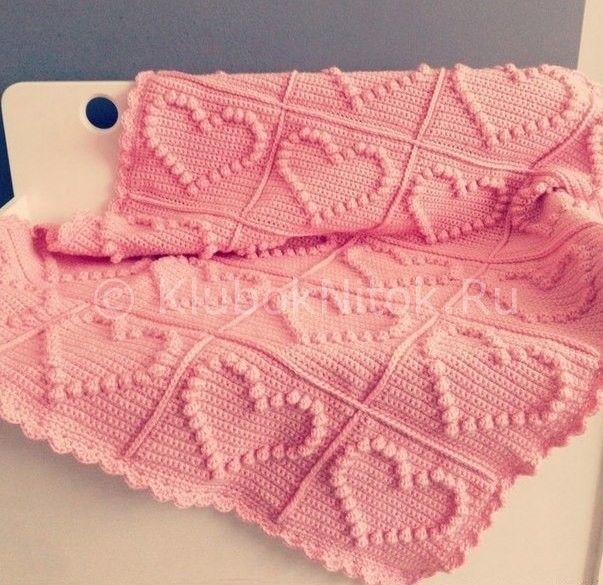 Плед для начинающих | Вязание крючком | Вязание спицами и крючком. Схемы вязания.