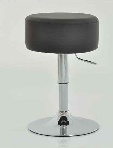 Low Bar Küche Hocker Schwarz Gepolsterter Sitz, Höhenverstellbar In Bezug  Auf Einstellbare Küchenhocker #Küche