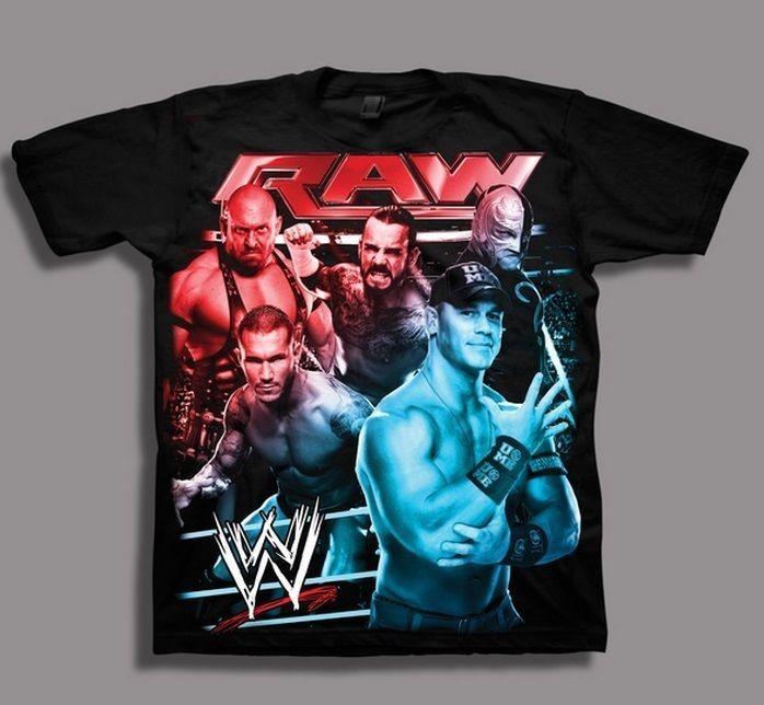 WWE RAW John CENA NeW Black Shirt Boy's 14/16 Rey Mysterio CM Punk Orton Ryback $19.99 #WWE #WWERAW #WWEShirt #WWERAWShirt