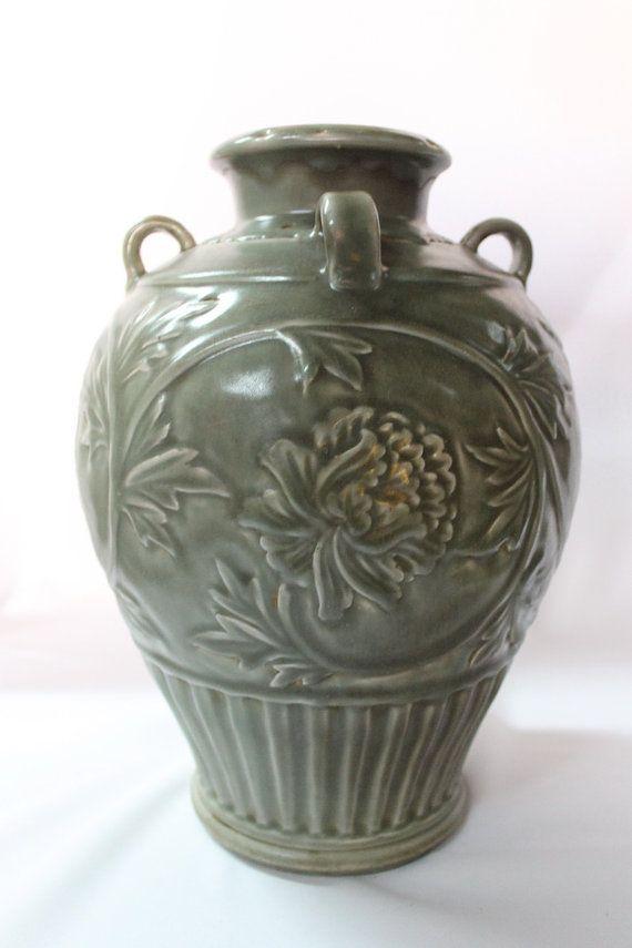 Rare Antique 13 c. porcelaine chinoise Vase urne Song - dynastie Yuan céladon