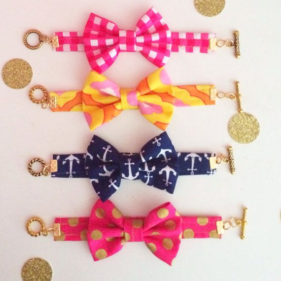 The Check Me Out Bow Bracelet by kaitlinkendalldesign on Etsy ❤️ i wanna try making my own!