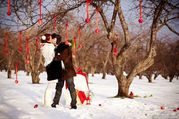 Свадьба зимой - фото и идеи