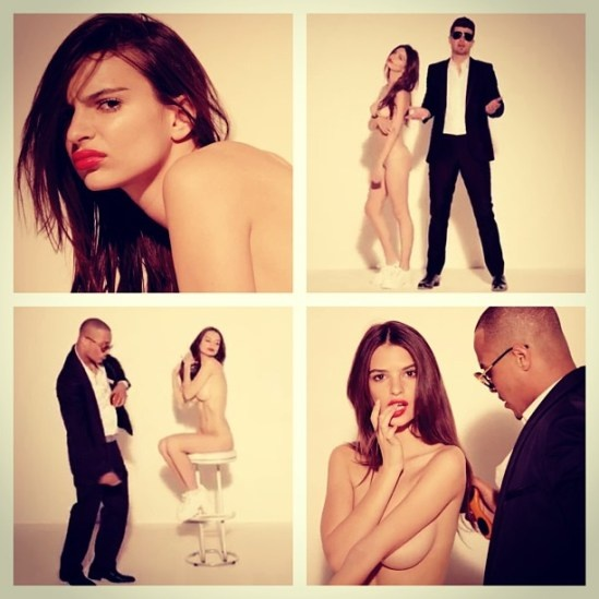 Hahah love this video, blurred lines Robin Thicke, PharreLl and T.I. Emily Ratajokowski is so hot