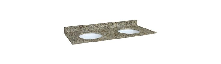 """Design House 553073 61"""" Vanity Top with Double Bowl from the Granite Collection Venetian Gold Fixture Vanity Top Marble"""