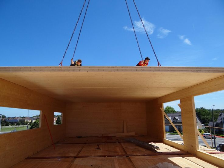 Construction of a pharmacie in #crosslaminatedtimber #CLT #Glulam. less then 4 months from scrath until the grand opening.