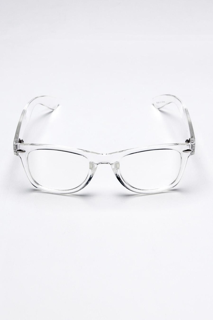 Clear Frame Glasses-- getting these as soon as possible :)