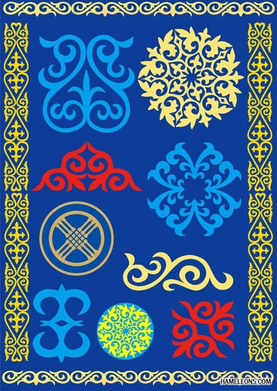 albatros: шаблон казахского орнамента скачать бесплатно