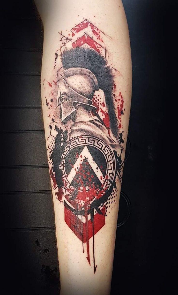 Half Sleeve Tattoos For Men And Women - Tattoos Warrior Tattoos, Badass Tattoos, Viking Tattoos, Tattoos For Guys, Tattoo Sleeve Designs, Sleeve Tattoos, Spartan Helmet Tattoo, Gott Tattoos, Tatuagem Trash Polka
