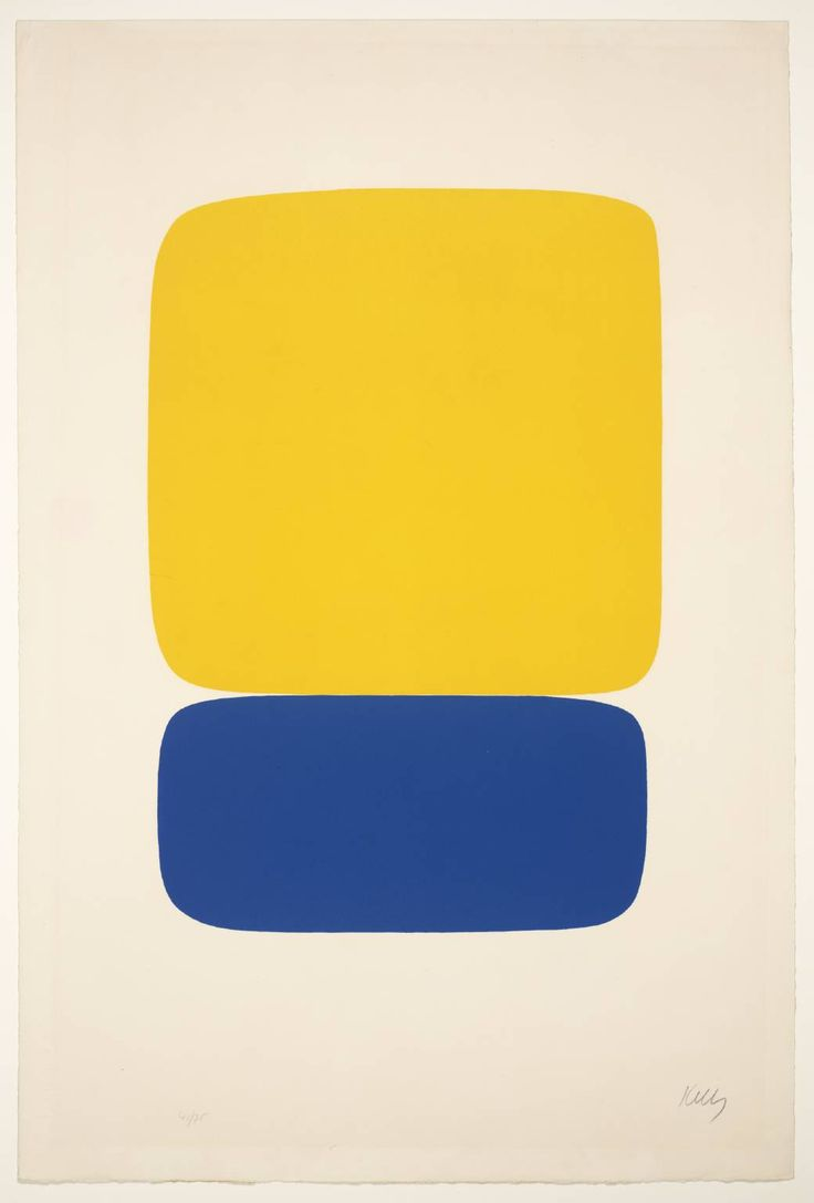 Ellsworth Kelly (born 1923) - Yellow over Dark Blue, 1964-65, Lithograph on paper. » http://www.tate.org.uk/art/artists/ellsworth-kelly-1391