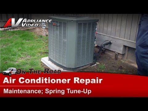 Central Air Conditioner Service Maintenance Spring tune & clean - YouTube