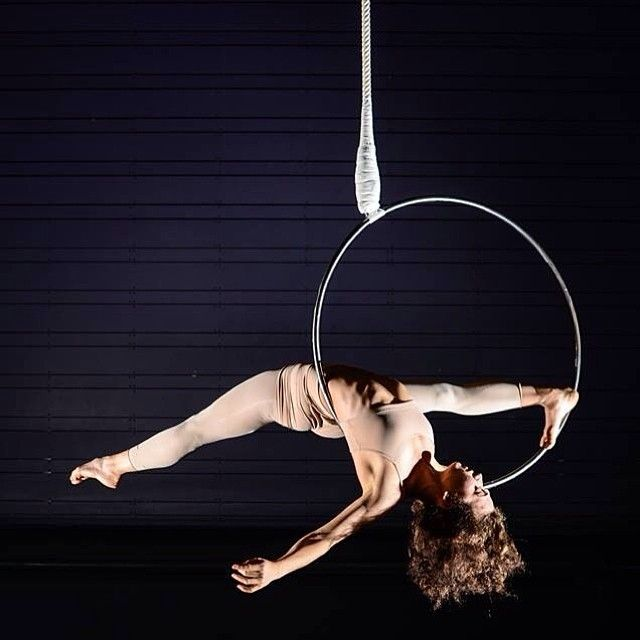 Aerial hoop with Alex Royer! (via flexibilityisfreedom