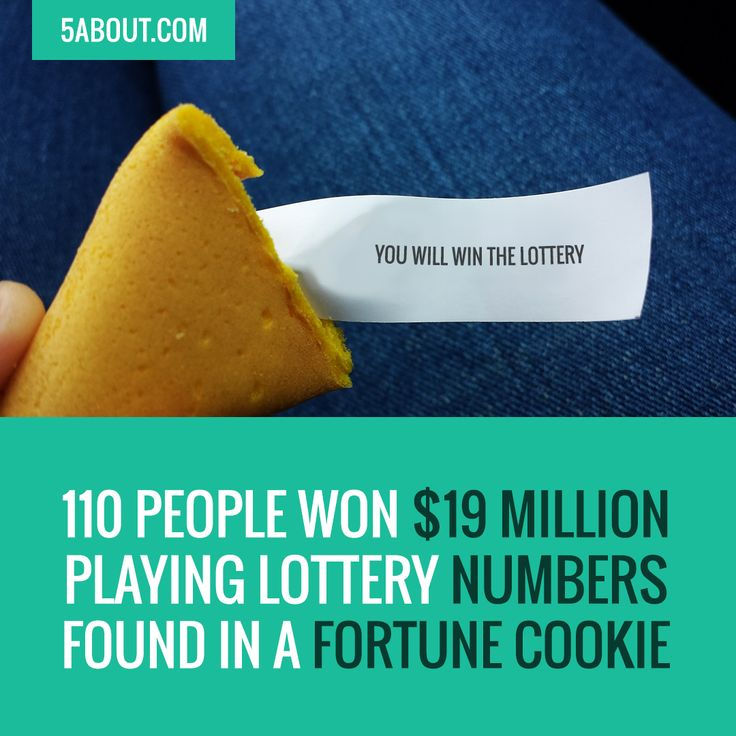 #5About Lottery | 110 People Won $19 Million Playing Lottery Numbers Found In A Fortune Cookie | Pin And Share!
