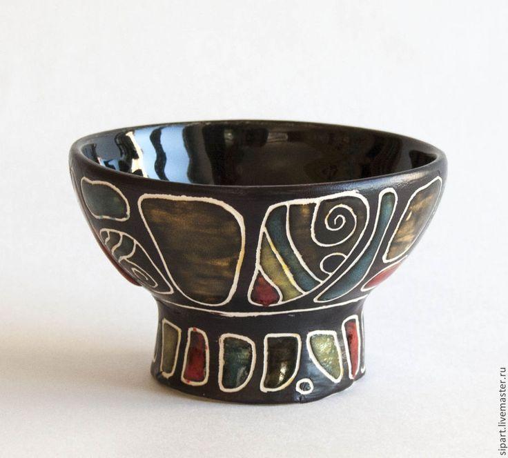 """Купить Вазочка """"Барабан Абангу"""" из серии Африка - керамика ручной работы, вазочка, керамическая посуда"""