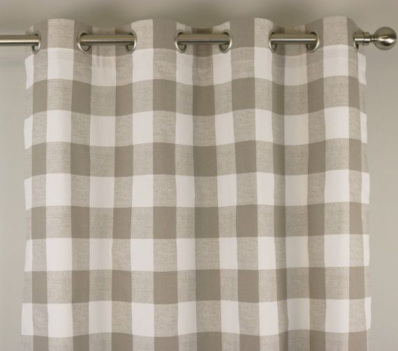 Checked Curtain Panels Best Home Design 2018