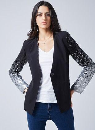 Long black jacket dresses