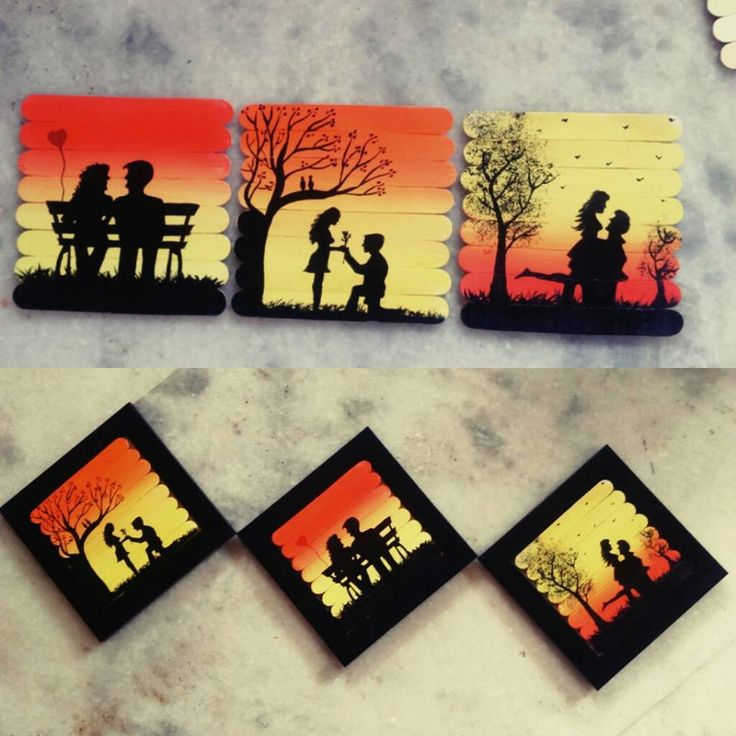 37 best artwork images on pinterest creative ideas appliques and how to make ice cream sticks paintings ccuart Images