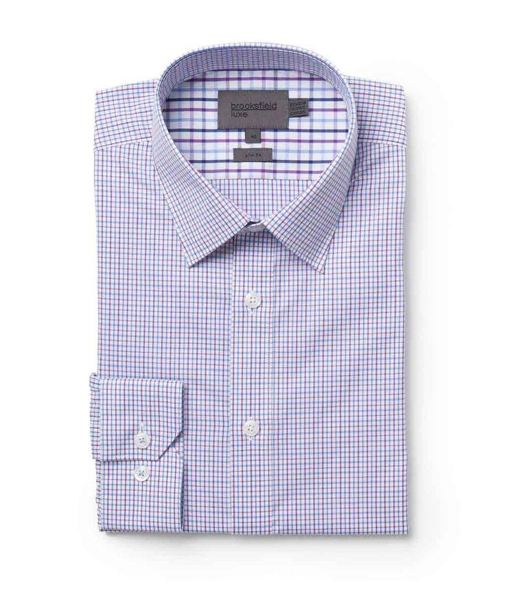 Brooksfield Online Shop: mini window check shirt - bfc966 lilac