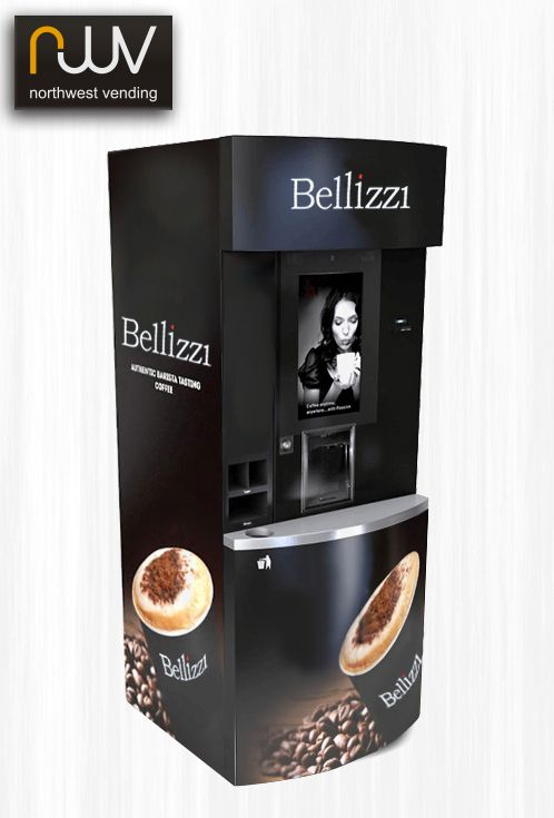 Our bespoke coffee towers have everything you need to offer the ultimate consumer beverage experience. Clients have the option to create their own brand and add a personal touch without compromising quality or from a choice of brand partners such as Kimbo and Nestle or our own Bellizzi. The 21.5 inch HD touch-screen has large easy to use menu icons, once you make your selection you can personalize your beverage just the way you like it. #coffeetower, #coffeestation, #northwestvending