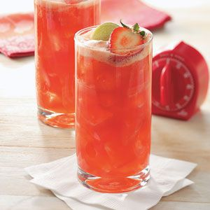 Strawberry Spritzer Recipe from Taste of Home -- shared by Krista E Collins of Concord, North Carolina