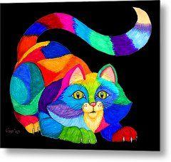 Frisky Cat Metal Print by Nick Gustafson