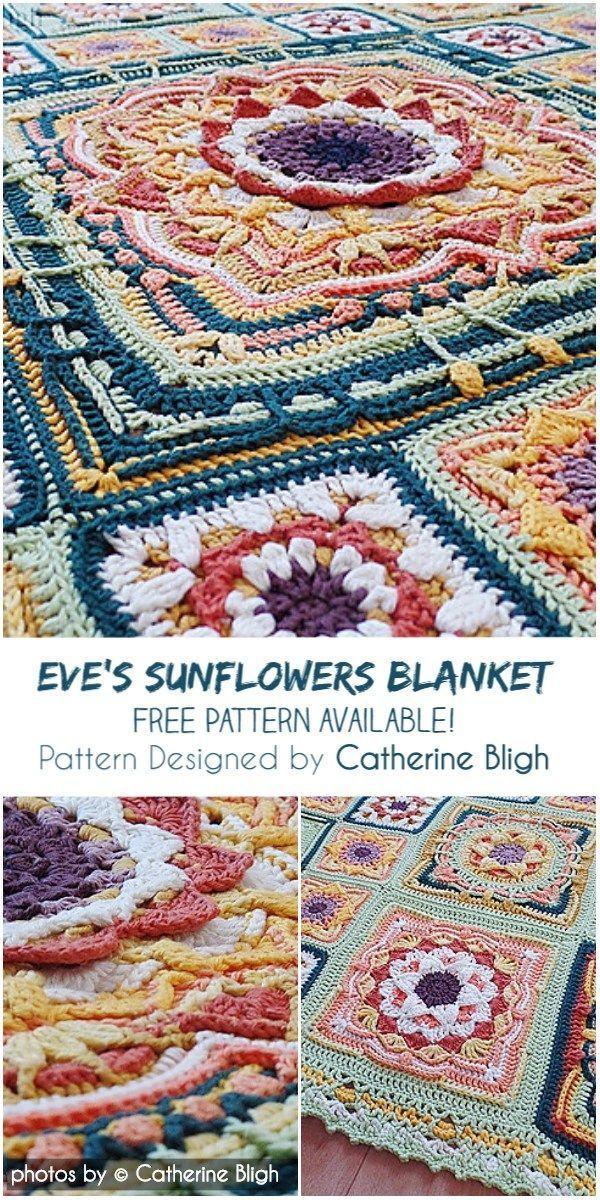 Atemberaubende Eva Sonnenblumen Hakeln Decke Muster Idee Hakeln