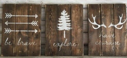 DIY signs for a rustic, forest nursery