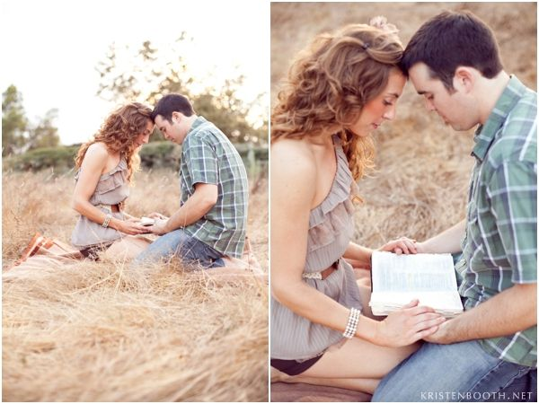 Engagement photo holding a bible. love this. God should be the center of every relationship..