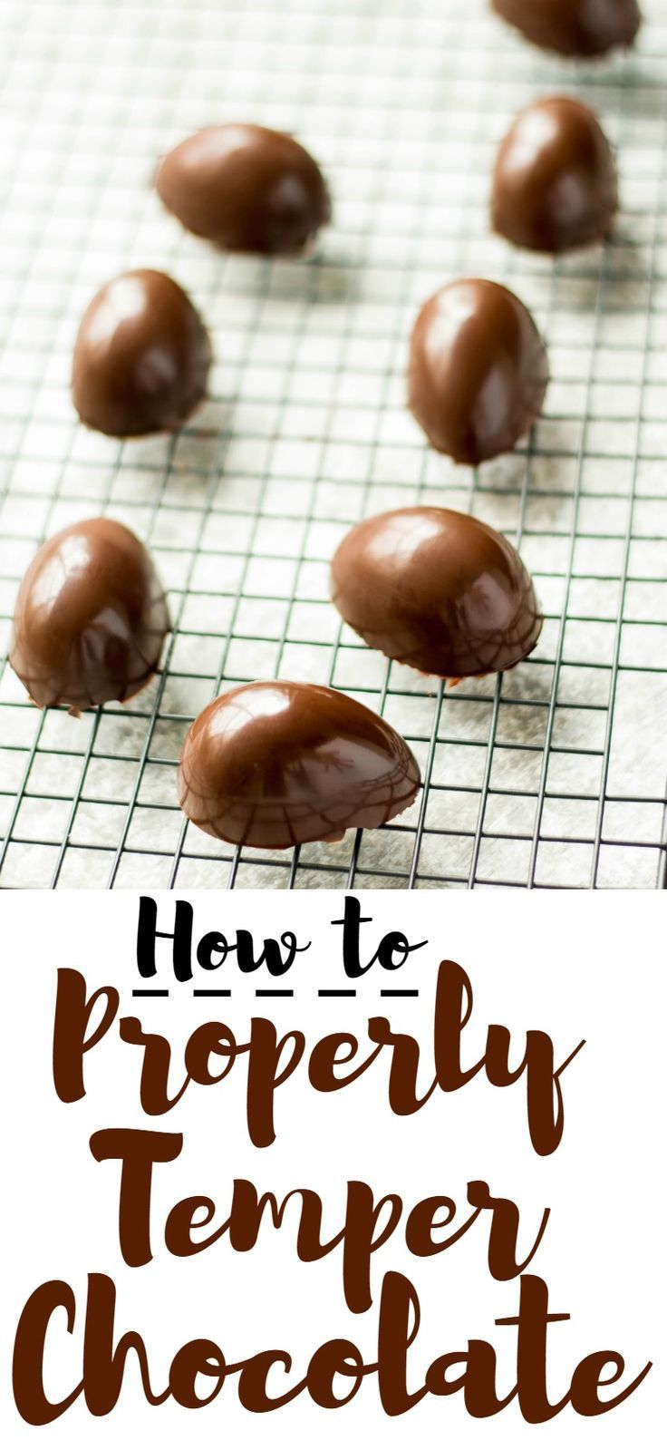 Learn how to properly temper chocolate in 3 easy steps to get that signature sheen and snap. Perfect for coating candy, truffles and more!