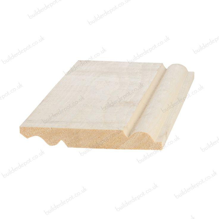 Reversible Skirting Board Torus Ogee 25mm x 150mm Sold Per Metre